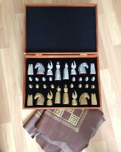 Cool mid-century chess set