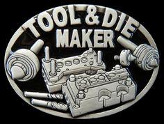TOOL DIE MAKER MACHINERY QUALITY OCCUPATION WORKER BELT BUCKLE BELTS BUCKLES #Coolbuckles #toolanddiemaker #tooldiemaker #toolmaker #machinery #beltbuckle