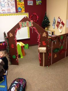 Gingerbread house dramatic play!