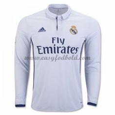 Fodboldtrøjer La Liga Real Madrid 2016-17 Hjemmetrøje Langærmede