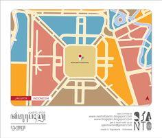 Indonesian City Maps Postcard Series (January 2013)   Jakarta - Indonesia   special spot : Monumen Nasional   Postcard Design by Ojan