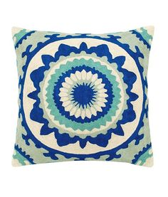 Trance Cotton and Silk Throw Pillow