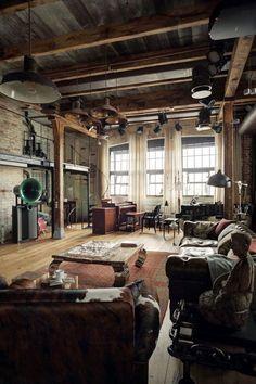 loft #industrial #interior #interiordesign #dertyroom #design ...