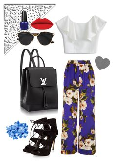 """FLORAL"" by elviaalvarado on Polyvore featuring moda, Dolce&Gabbana, Chicwish, Christian Dior y OPI"