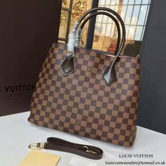 Louis Vuitton N41435 Kensington Tote Bag Damier Ebene Canvas bcdfa57831321