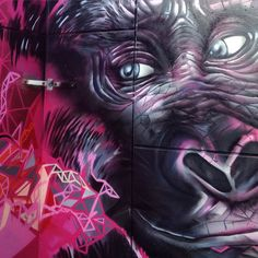 Gorilla (detail), part of the Yellow Brick Road project (Boom, Belgium) by SMOK