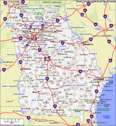 Map Of Georgia Georgia Hotels Lodging Interstate Georgia Usahidden