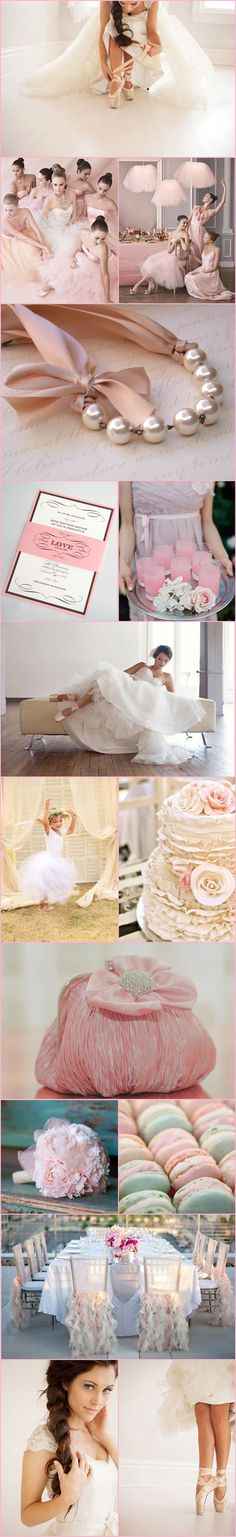 Serendipity Corner | Ballet Wedding!! Lovely, some sweet ideas for a ballet themed girls party too.