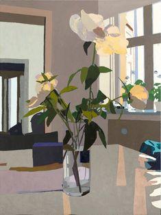 Glass Vase with Flowers, Fælledvej | Erik A Frandsen