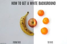 how to get a white background