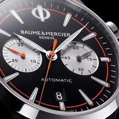 Baume et Mercier Capeland Chronograph (10451) #BaumeEtMercier #Capeland #Chronograph #swisswatch #бомэтмерсье #боммерсье #хронограф #швейцарскиечасы Cool Watches, Omega Watch, Chronograph, Baume Mercier