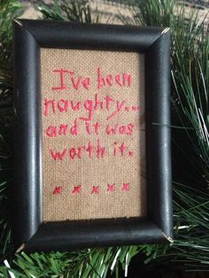 Primitive Christmas Sampler Mini Ornament Funny Saying  #NaivePrimitive #Stitcher