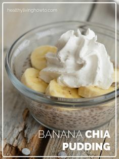 healthylivinghowto.com | Banana Chia Pudding.  For a thicker more pudding like consistency use the ratio 1 cup of almond milk to 1/4 C. (4 tbsp.)  chia seeds