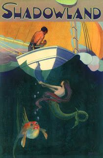 Trouble In Paradise: Shadowland Magazine cover art by A. M. Hopfmuller