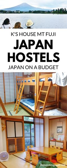 Travel Japan from Tokyo. japan hostels in fuji five lakes area, kawaguchiko - K's house near mt fuji climb hike with best things to do with mount fuji views. Backpacking Japan on a budget for solo travelers and backpackers, cheap accommodation. Best things to do. Best places to visit. Outdoor travel destinations, Japan travel tips, trip planning, where to go on vacation. Culture travel, beautiful places, asia, for world bucket list, wanderlust inspiration, adventure. #flashpackingjapan