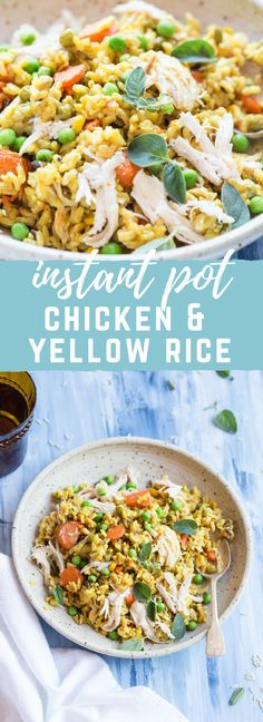 This Instant Pot Chicken and Yellow Rice will have you screaming winner winner chicken dinner. It's so easy and convenient when you have zero time to cook and need dinner on the table fast. Bonus points, one pot clean up. Yipee!