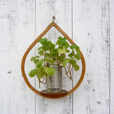 midcentury wooden plant holder / modern by WhiteBarnVintage, $17.00