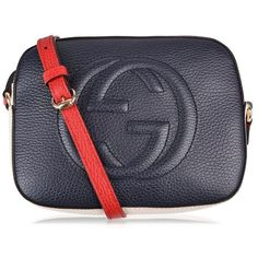 Gucci Soho Camera Multi Colour Bag (€700) ❤ liked on Polyvore featuring bags, handbags, shoulder bags, genuine leather purse, gucci purses, genuine leather handbags, multi colored handbags and camera bags