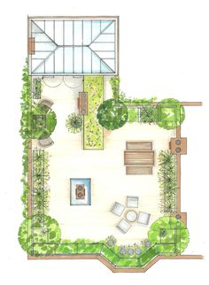 Urban Garden Design, Garden Design Pictures, Garden Design Plans, Layout Design, Roof Design, Roof Garden Plan, Green Terrace, Terrace Garden Design, Garden Floor