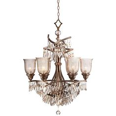 "Ashantee 27"" Wide Light Smoke Crystal Chandelier"