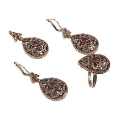 Handmade Turkish Earing, Ring and Necklace Jewelry set ZB 2075