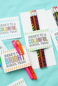 Teacher Appreciation Week Discover Back To School Gifts - Heres To A Colorful School Year Back To School Party, Back To School Teacher, Beginning Of School, School Parties, First Day Of School, Back To School Gifts For Kids, Sunday School, School Stuff, Middle School