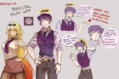 Principal Milk Way & Sun sensei Cartoon As Anime, Anime Comics, Baguio, Space Anime, Earth Memes, Character Art, Character Design, Anime Version, Fan Art