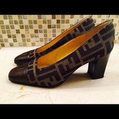 Classic authentic fendi pumps Authentic Fendi pumps with classic logo in good condition. Easy to match from dressy to casual. No trade or p&p. FENDI Shoes Heels