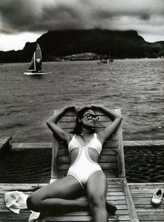Hello Sunshine! Shanina Shaik looking amazing in our 'Mesh panelled One Piece Swimwear White' in this month's issue of marie claire magazine Australia - styled by Valeryi Yong  Shop swimwear in stores and online now: www.shakuhachi.net