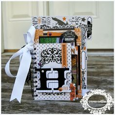 TERESA COLLINS DESIGN TEAM now I know whatnot do,with the little file folders in the collection tho I don't have a binder... #teresacollonsdesigns #scrapbook