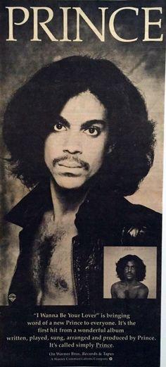 Prince (1979) album ad, RIP