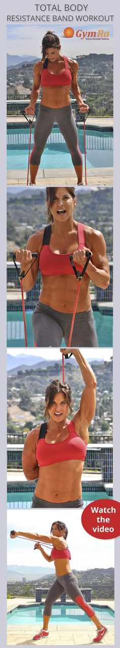 Total Body Resistance Band Workout for a head to toe slimming & strengthening session. Click the image to watch the entire video, then head to gymra.com for more! It's free for 30 days and no credit card is required to join.