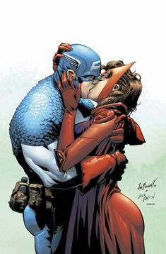 Captain America & Scarlet Witch - Joe Bennet