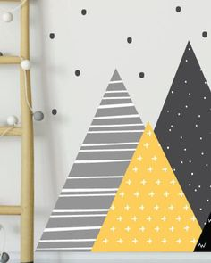 Peel and Stick Wall Decals Pattern Mountain Wall Decals Nursery Wall Decals, Vinyl Wall Decals, Wall Stickers, Baby Boy Room Decor, Girl Room, Church Interior Design, Kids Room Murals, Polka Dot Walls, Wall Painting Decor