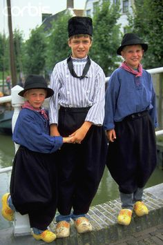 Boys in traditional Dutch costume, the Netherlands