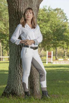 Ladies Riding Pants Fits Free Flex Full Seat Zip Front