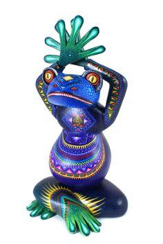 Oaxacan Wood Carvings Julia Fuentes Frog