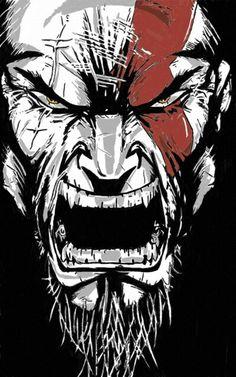 Illustration Batman, Game Character, Character Design, Geeks, Kratos God Of War, Guns And Roses, Joker Art, Gaming Wallpapers, Comic Book Characters