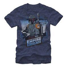 Star Wars Boba Fett Navy Heather Blue T-Shirt