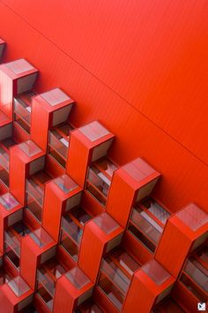 RED-emption by Loïc Vendrame Photography on Colour Architecture, Minimalist Architecture, Facade Architecture, Photo D'architecture, Minimal Photography, Red Aesthetic, Shades Of Red, Textures Patterns, Interior And Exterior