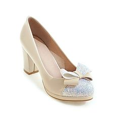494135152dec11 Women s Heels Spring Summer Fall Winter Club Shoes Leatherette Wedding  Dress Party   Evening Chunky Heel