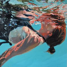This series of beautiful oil paintings takes us on an underwater exploration of colors, textures, and unique perspectives. Created by artist Samantha drawing ideas Glistening Underwater Oil Paintings by Samantha French