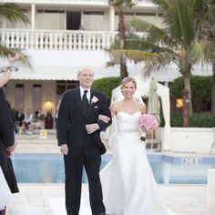 The Father Of Bride S His Daughter Down Aisle Ocean View Wedding