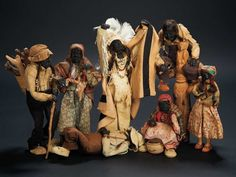 Collection of Highly Expressive Native American Indian Head Dolls $500+ Auctions Online | Proxibid