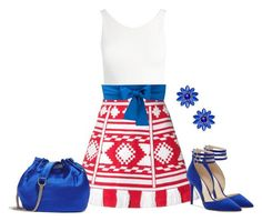 """""""Red, White, And Blue"""" by sjlew ❤ liked on Polyvore featuring Sans Souci, Vita Kin, Jessica Simpson, Diane Von Furstenberg, Kate Spade and Sara Roka"""