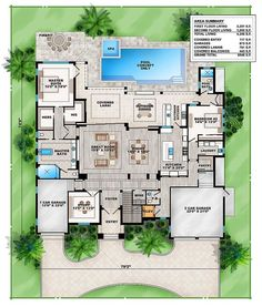 Grand Florida House Plan - 86041BW | 1st Floor Master Suite, Butler Walk-in Pantry, CAD Available, Den-Office-Library-Study, Elevator, Florida, Loft, Luxury, PDF, Photo Gallery, Premium Collection, Southern | Architectural Designs