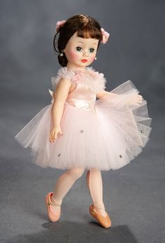 Vintage Pink Doll Skirt With White Zig Zag Trim Fits Mary Hoyer Doll