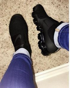 VaporMax Nolace is part of Boho fashion Shoes Pom Poms - Simply Boutiq 123 Cute Sneakers, Sneakers Mode, Sneakers Fashion, All Black Sneakers, Fashion Shoes, Shoes Sneakers, Shoes Heels, Sneaker Heels, Shoe Wedges