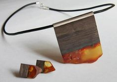 Unique and beautiful artisan jewelry - amber and wood. Love these tones for fall.