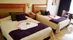 Double bed room view from Golden Parnassus Adult All-Inclusive - http://applev.ac/1OBh0Gc